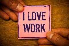 Travail conceptuel d'amour de l'apparence I d'écriture de main Les photos d'affaires textotent pour être heureuses que satisfaisa Photo libre de droits