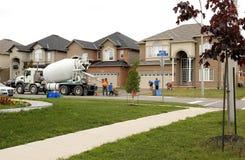 Travail concret sur une nouvelle maison Photo libre de droits
