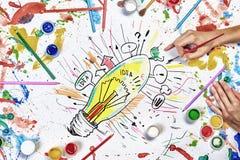 Travail créatif d'idée Images libres de droits