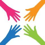Travail d'équipe, Communauté, concept plat de conception sociale Photo stock
