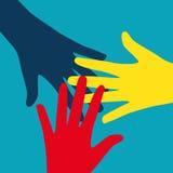 Travail d'équipe, Communauté, concept plat de conception sociale Images libres de droits