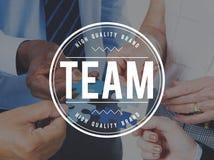 Travail d'équipe Concep de Team Building Collaboration Connection Corporate Photographie stock
