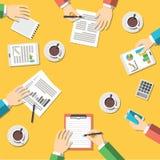 Travail d'équipe, concept de réunion d'affaires Images stock