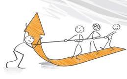 travail d'équipe d'isolement par illustration noire du concept 3d Illustration Libre de Droits