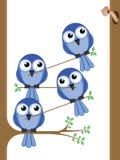 Travail d'équipe d'oiseau illustration de vecteur
