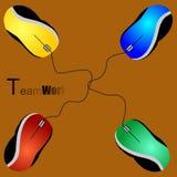 Travail d'équipe de Mouses Images stock
