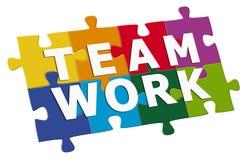 Travail d'équipe de puzzle illustration de vecteur