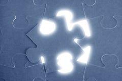 travail d'équipe de puzzle de métaphore de transmission Photos stock