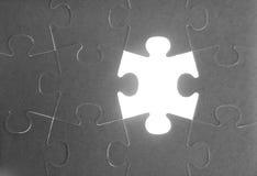 travail d'équipe de puzzle de métaphore de transmission Images stock