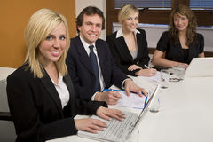 Travail d'équipe de salle de réunion Image libre de droits