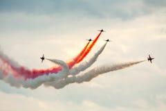 Travail d'équipe de salon de l'aéronautique Photographie stock libre de droits