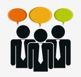Travail d'équipe et bulle, conception d'icône Images libres de droits