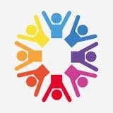 Travail d'équipe et conception de pictogramme Image stock