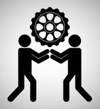 Travail d'équipe et conception de vitesses Photos libres de droits