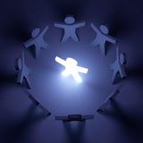 Travail d'équipe et conduite Image libre de droits