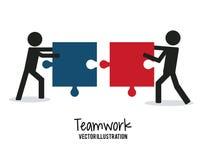 Travail d'équipe et design d'entreprise Images stock