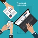 Travail d'équipe et design d'entreprise Photos stock