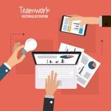 Travail d'équipe et design d'entreprise Image libre de droits