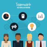 Travail d'équipe et design d'entreprise Photographie stock
