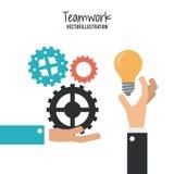 Travail d'équipe et design d'entreprise Photographie stock libre de droits
