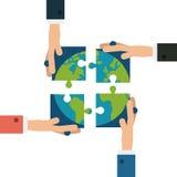 Travail d'équipe et design d'entreprise Images libres de droits