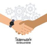Travail d'équipe et design d'entreprise Image stock