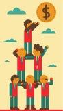 Travail d'équipe et succès Image libre de droits