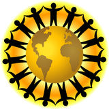Travail d'équipe global/ENV photo libre de droits