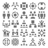 Travail d'équipe, icônes 1 de vecteur d'organisation Image libre de droits