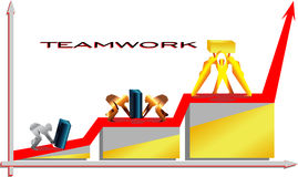 Travail d'équipe/illustration de vecteur de travail d'équipe Images stock