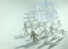 travail d'équipe d'isolement par illustration noire du concept 3d position de papier d'hommes d'équipe Photos libres de droits