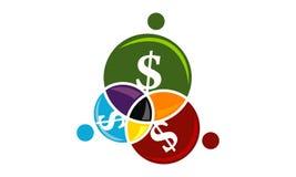 Travail d'équipe Logo Design Template d'affaires Images libres de droits