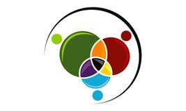 Travail d'équipe Logo Design Template d'affaires Image libre de droits