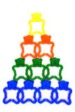 Travail d'équipe - pyramide Image stock