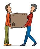 Boîte en mouvement/de transport de travail d'équipe illustration libre de droits