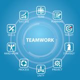 Travail d'équipe Team Hard Work Concept d'affaires Illustration de vecteur illustration de vecteur