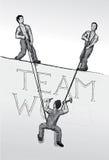Travail d'équipe (vecteur) Images stock