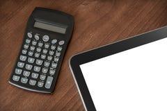 Travail d'affaires avec la Tablette et la calculatrice #2 Image libre de droits