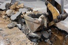 Travail d'excavation Images libres de droits