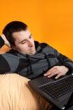 Travail d'ordinateur personnel Image libre de droits