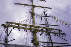 Travail d'équipe sur le bateau Image libre de droits