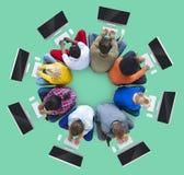Travail d'équipe Team Together Collaboration Meeting Looking vers le haut de concept Photo stock