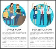 Travail de bureau Team Vector Illustration réussi illustration libre de droits