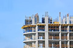 Travail de chantier de construction Photos stock