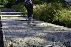 Travail de ciment Photos libres de droits