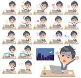 Travail de condition_desk de Gray Suit Businessman Bad Illustration Stock