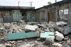 Travail de démolition Photographie stock libre de droits
