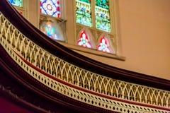 Travail de détail sur le balcon d'église Photographie stock libre de droits