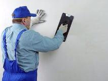 Travail de finissage de mur images stock