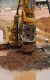 Travail de la terre de chantier de construction Photos libres de droits